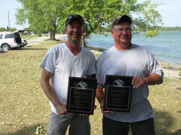 Wayne Ek Jason Ek Lake Minnewaska 2013 Bass champions
