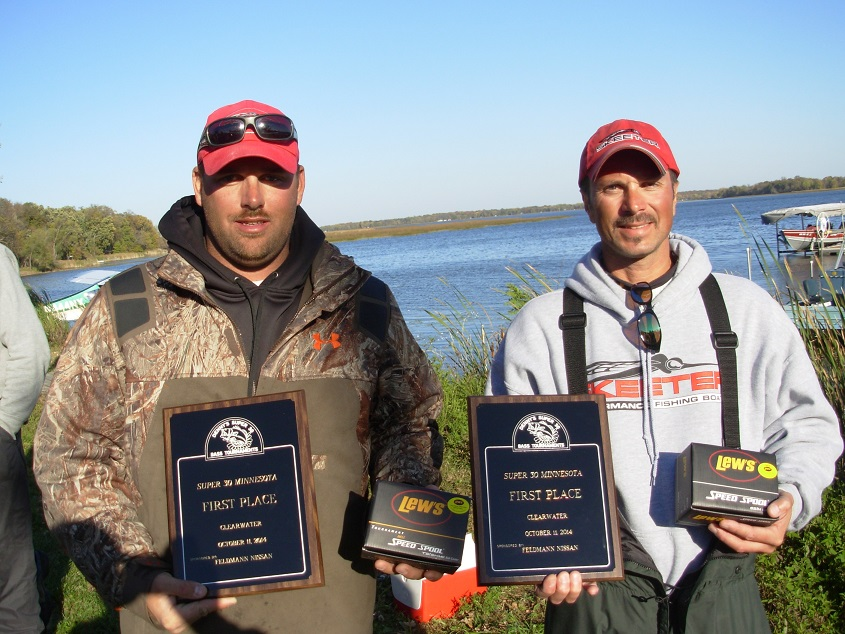 2014 Clearwater MN Bass Tournament Champions Dean Nalezny Paul Shimek