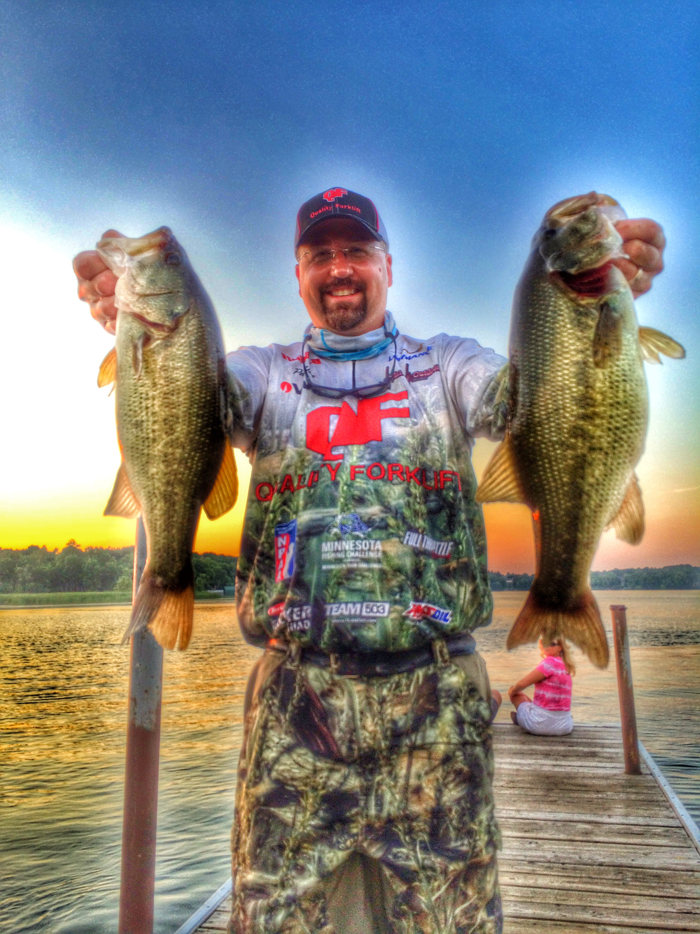 7-22-2014 Tuesday Night Bassin Minnetonka 3rd place Pete Hein