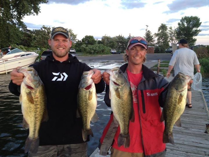 9-11-2014 Thursday Night Bassin Minnetonka 1st place winners Seth Feider John Figi