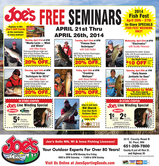 Joe's Sporting Goods Seminars Spring 2014 Fishing